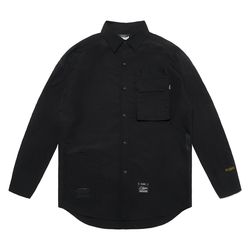 S TECH OVERSIZED SHIRTS BLACK