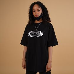 Double CIRCLE LOGO Black T-shirt