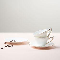 차모아 커피잔 드림 컵소서 미니 2인세트