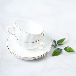 차모아 커피잔 골드 펌킨 2인조 에스프레소