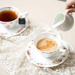 차모아 커피잔 로얄로즈 네이처 2인조 컵 소서