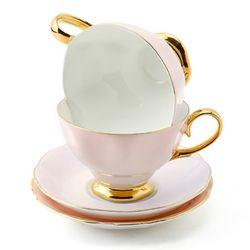 차모아 커피잔 디어 캐서린 컵 소서 2인조 베이비핑크