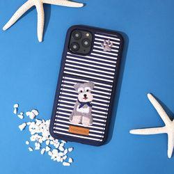 [예약판매 4/21 순차배송] 아이폰갤럭시갤럭시노트 슈나우저 자수 포켓 카드케이스