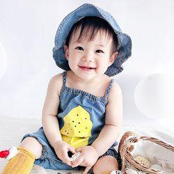 레몬 데님 유아 룸퍼 2종세트(3-24개월) 204069