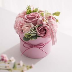 카네이션 비누꽃 화분(핑크)