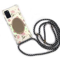 btg 핸드폰 목걸이 케이스 - 그봄 타원 거울 케이스