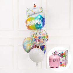 헬륨풍선 부케 생일케익 레인보우 일회용헬륨가스