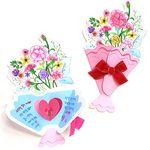 만들기 카네이션 꽃다발 카드 (5인용)