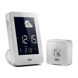 브라운BNC013WH-RC 디지털 글로벌 무선제어 기상관측소시계