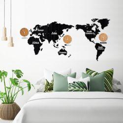 세계지도 무소음  벽시계 교육용