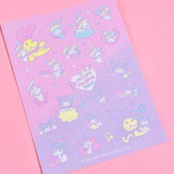 [마이멜로디 쿠로미] Rainbow Melody Mini Mix Sticker