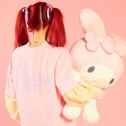 [마이멜로디 쿠로미] Rainbow Melody T-Shirt PINK