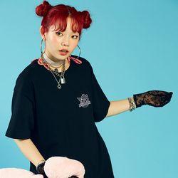 [마이멜로디 쿠로미] Rainbow Melody T-Shirt BLACK