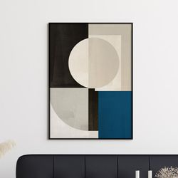 블루스퀘어 추상화 그림 A3 포스터+알루미늄액자