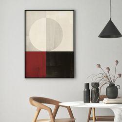 레드스퀘어  추상화 그림 A3 포스터+알루미늄액자