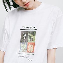 FELIS CATUS T-SHIRT WHITE