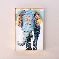 하이그로시 풍수 코끼리 그림액자 AHG008 인테리어액자