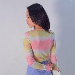 2827 스프링 워터프린팅 티셔츠(2colors)