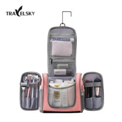 TRAVELSKY 파우더룸 행거형 여행용 화장품 파우치