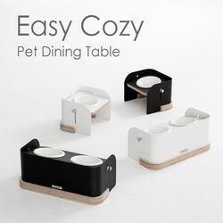 이지코지 2구 강아지식탁 고양이식기 애견밥그릇