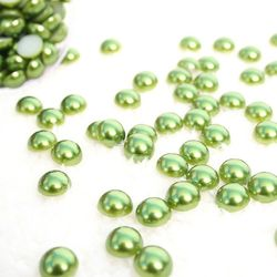 반진주비즈 (녹색) 약120개(30g)
