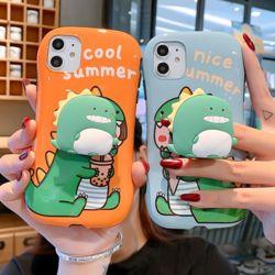 아이폰 귀여운 커플 공룡 캐릭터 그립톡 실리콘케이스
