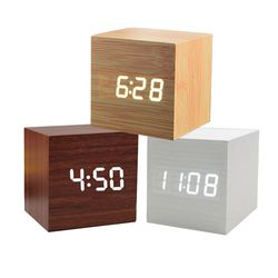 인테리어 원목시계 LED 무소음 디지털 탁상시계
