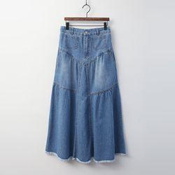 Nicole Denim Long Skirt