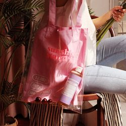[레이지라운지] 선샤인 트윈 PVC에코백 핑크