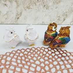 칠보 커플부엉이 (중)1쌍 (FH8181) (색상랜덤)
