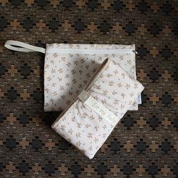 로지 베이지 휴대용 기저귀패드