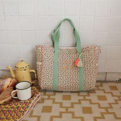 보호 플라워 기저귀가방 (베이지)