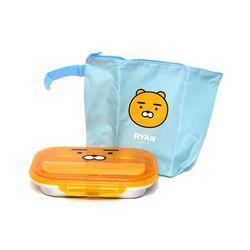 카카오 올인원 가방 수저통 식판세트 (라이언)