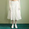 Tiered Kangkang Skirt[White]