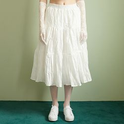 Tiered Kangkang Skirt[White]