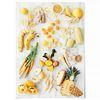 중형 패브릭 포스터 F061 주방 과일 감성 액자 Eat yellow color