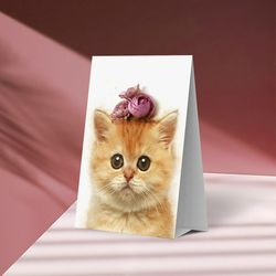 플라워포켓 스텐딩 카드 고양이