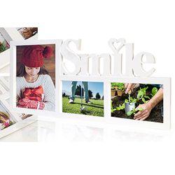 거실 벽 인테리어 사진 포토 화이트 액자 프레임 장식 SMILE