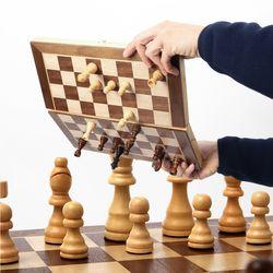 원목 접이식 체스 자석형 중형