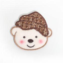 [펠트친구] 갈색모자곰와펜[1804]