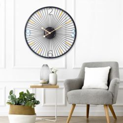 미니멀 심플휠 바퀴 무소음 벽시계