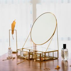 빈티지 화장 거울 장식대