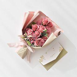 카네이션 로즈 비누꽃다발 [용돈봉투 포함]