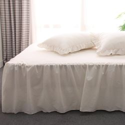 엘리스 오가닉 프릴 침대스커트 침대커버 Q 3컬러