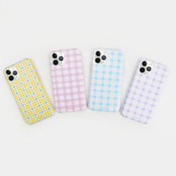 나인어클락 문양 체크 패턴 슬림 하드케이스 - 아이폰5 5S SE