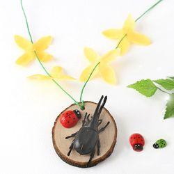 [아트랄라]개나리우드목걸이만들기(1개)나무목걸이봄만들기