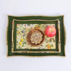 마샤 과일 사각 쟁반 2Pset (대중)