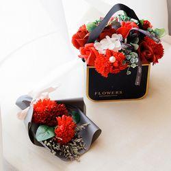미니 카네이션 비누꽃 꽃다발
