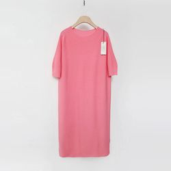 Maille Wool Long Dress - 반팔