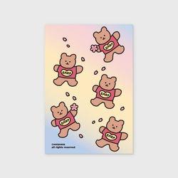 Blossom Bear heart(엽서)